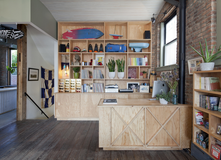 1b77e499a0f89e ar and dee design build check out counter Pilgrim Surf and Supply brooklyn